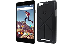 "Wileyfox Spark X Black - 5.5"" HD, Dual SIM, Android Nougat 7.0, SIM-Free Smartphone with Premium Origami Stand Case"