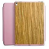 DeinDesign Apple iPad Pro 12.9 (2017) Smart Case rosa Hülle mit Ständer Schutzhülle Holz Look Eichenholz Maserung