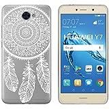 yayago Schutzhülle für Huawei Y7 Hülle Spring Design Transparent