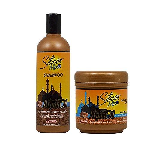 Avanti Silicon Mix (Silicon Mix Moroccan Argan Oil Shampoo + Hair Treatment 16oz Set by Silicon Mix)