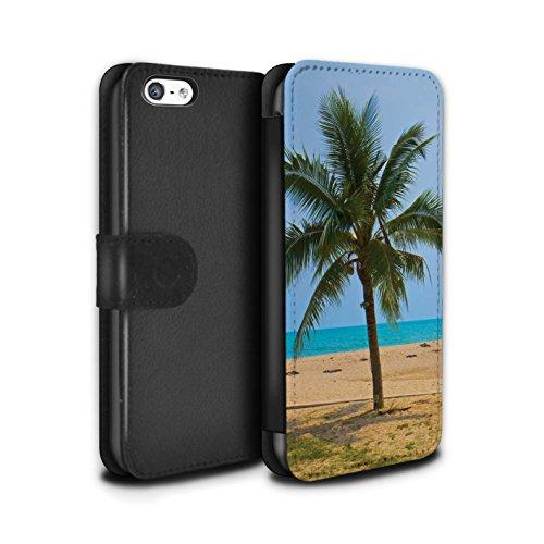 Stuff4® PU-Leder Hülle/Case/Tasche/Cover für Apple iPhone 5C / Palme Muster/Thailand Landschaft Kollektion