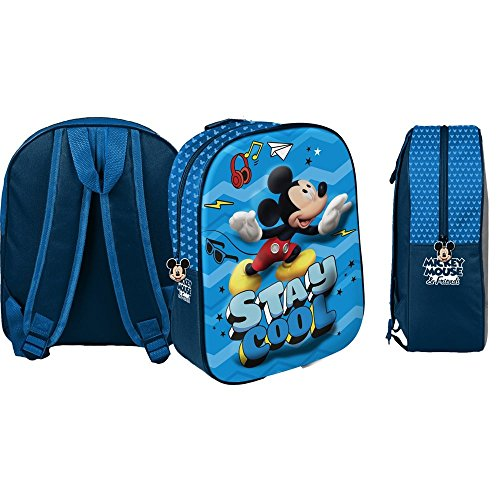 Star  Disney Mickey Mouse & Friends Art. Codice 48550, Zaini Stampati in 3D, Dimensioni: 26,5 x 10 x 31 cm.