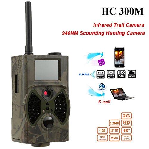 12MP 1080P HD Wildlife Kamera Fernbedienung Jagd Kamera Video GSM / GPRS / MMS / SMS Digital Infrarot Trail Kamera