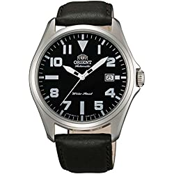 orient Men's Classic Automatic 41mm Black Leather Band Steel Case Analog Watch FER2D009B0