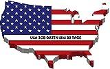 Prepaid SIM Karte für USA, Puerto Rico, Hawaii & US Jungferninseln mit 3GB Daten Option für 30 Tage