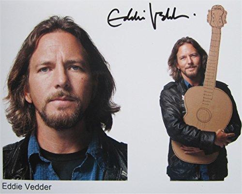 Superb Eddie Vedder (Pearl Jam) firmato foto 10x 8+ (Superb Gioiello)