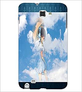 PrintDhaba Lovely Girl D-2493 Back Case Cover for SAMSUNG GALAXY NOTE 1 (Multi-Coloured)