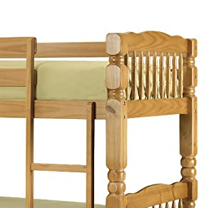 Chunky, Standard Two Sleeper, 3ft, Solid THICK STRONG Pine Wood BUNK BED Frame