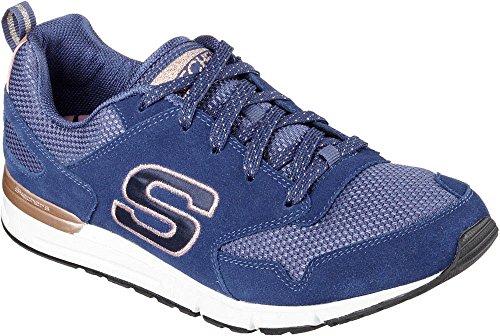 Skechers Og 92 - Goldie, Scarpa Sportiva Donna En Memory Foam Blu (azul Marino / Dorado)