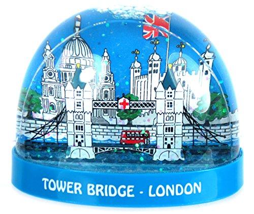 Schneesturm London Zum Sammeln London Souvenir, Plastik, Tower Bridge-Design, Large