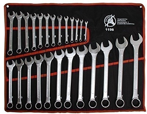 Kraftmann - Set Di 25 Chiavi Combinate, 6-32 Mm