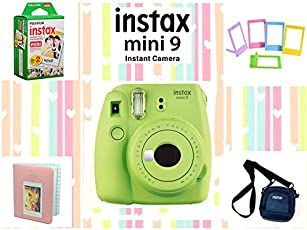 Fujifilm Instax Mini 9 Joy Box with Instant Camera (Lime Green)