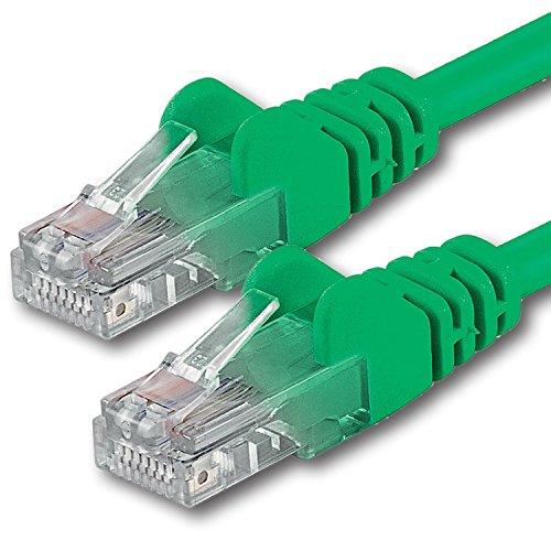1aTTack CAT 5e UTP Netzwerk Patch-Kabel mit 2X RJ45 Stecker 20m grün - Cat6 Grün Utp Patch