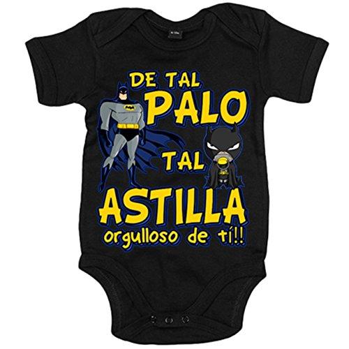 Body bebé Batman de tal palo tal astilla orgulloso de ti - Negro, 12-18 meses