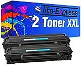 PlatinumSerie® 2x Toner XL kompatibel für Samsung MLT-D101S Black ML-2161 ML-2162 SCX-3400 Series SCX-3401 SCX-3405