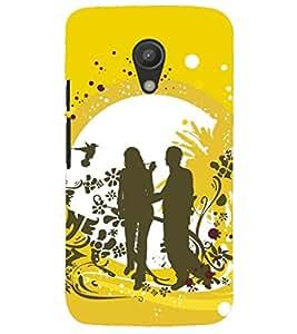 PRINTSHOPPII LOVE COUPLE Back Case Cover for Motorola Moto G2 X1068::Motorola Moto G (2nd Gen)