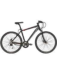 'Bicicleta Híbrida Cicli Adriatica Boxter GS Disc de hombre con marco de aluminio, frenos de disco, ruedas de 28, Shimano 24 velocidades, 3 tallas disponibles, negro mate