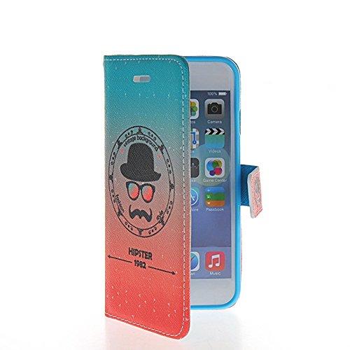 MOONCASE Pattern Series Housse de Protection Coque en Cuir Portefeuille Étui à rabat Case pour Apple iPhone 6 (4.7 inch) A16331