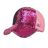 Unisex Kappe,ABsolute Snapback Sportmütze Baseball Cap Lässige Mütze Hiphop Pailletten Kappen Männer Frauen Huts Mode Atmungsaktiv Caps Zufällige Läuft Hüte (Hot Pink)