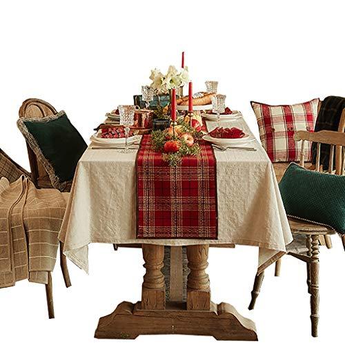 MNS Roter Weihnachtstischläufer, Acryl-Wollstoff-Couchtisch für Fernsehtisch, TV-Ständer, 6 Größen erhältlich (größe : 33×290cm)