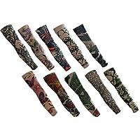 butterme 6/10/20pcs falso tatuaje temporal de casquillos de cuerpo de accesorios para Artificial de–Calcetín de brazo–Diseños tribal, dragón, cráneo y etc, 10pcs