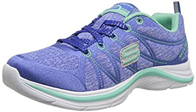 Skechers Kids Swift Kicks Training Shoe (Little Kid/Big Kid), Blue/Aqua, 4 M US Big Kid
