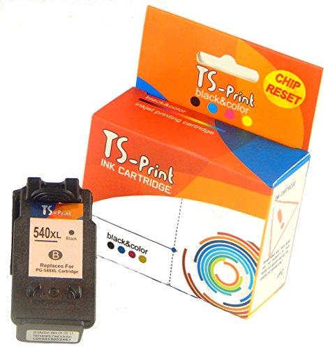TS-Print Druckerpatrone/Tintenpatrone ersetzt Canon PG-540 XL PG-540XL (21ml XXL) schwarz Black bk