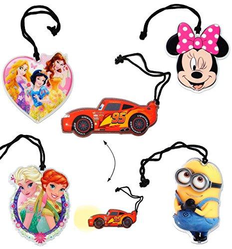 1 Stück - Flache _ Taschenlampe LED -  Mädchen Motiv  - Taschenleuchte / Princess - Minion - Minnie Mouse - Frozen - Belle - für Kinder Lampe Projektor - Li.. (Taschenlampe Minnie)