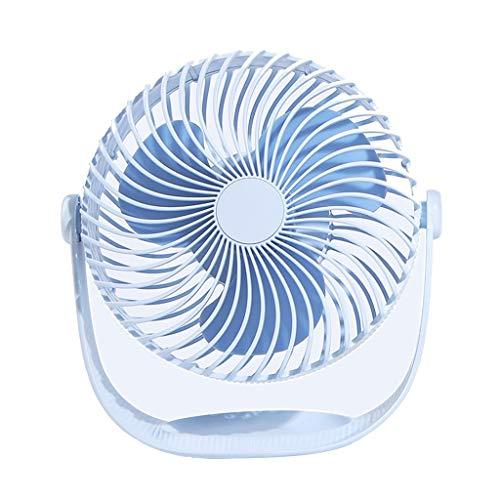 CAOQAO 2000mAh Mini-USB-Fan Fan Einstellbare Fan aufladbarer, für Haus, Büro und die Reise, Spaziergang, Wandern, Camping, Blau -