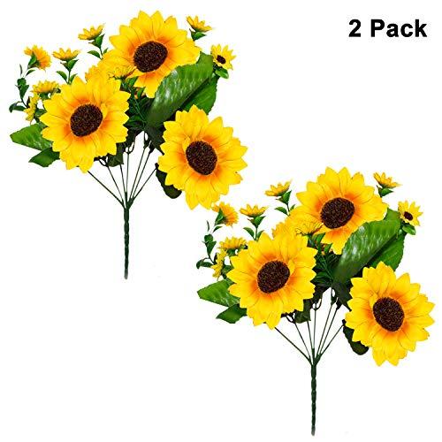 Belle vous fiori artificiali (2 pezzi) - 4 x grande fiore teste (10cm/3,93