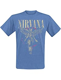 Nirvana In Utero T-Shirt Mottled Blue M