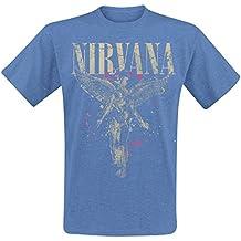 Nirvana In Utero Camiseta Azul Jaspe