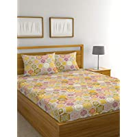 Raymond Home Exclusive Collection Flat Double Bedsheet Set, Multi-Colour, 220 x 240 cm, 004834-Bf01