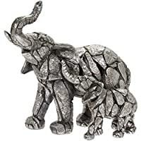 The Leonardo Collection Natural World Elephant Calf Ornament Figurine Carved