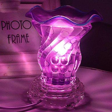 CLCJW illuminazione creativa,Moda cristallo vetro fragranza lampada 2 cavo di alimentazione spina luce di notte di aromaterapia incenso bruciatore camera da letto ,