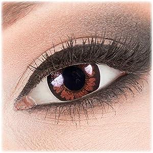 Meralens Circle contact Lenses braune Pretty Hazel ohne Stärke + 60ml Kontaktlinsen Flüssigkeit + Kontaktlinsenbehälter 14mm Big Eyes farbige Kontaktlinsen braun dunkelbraun farbig