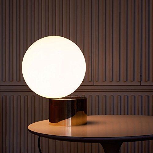 RAING Moderne minimalistische Metall Eisen Kunst goldene Lampe Körper/Schreibtisch Lampen Glas weiße Kugel Tischlampen Studie Schlafzimmer Nachttisch dekorative Lichter