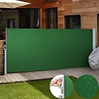 Jago SMKS01 - Toldo lateral para proteger, color verde, tamaño 160x300 cm
