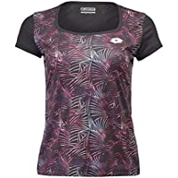 Lotto Camiseta pádel Superrapida II tee Print. 210431 All Black.