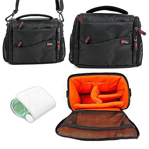 DURAGADGET Sacoche noir/orange pour Withings Tensiomètre sans Fil V2 et