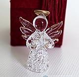 Wunderschöner Schutzengel aus Glas als Glücksbringer in Geschenkbox