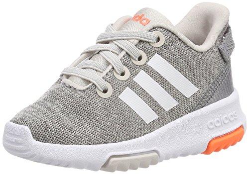 adidas Unisex Baby Racer TR Sneaker, Beige (Chalk Pearl/Footwear White/Hi-Res Orange), 21 EU