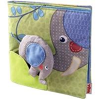 Haba 300146 - Stoffbuch Elefant Egon, weiches Knisterbuch mit vielen Fühl- und Spieleffekten, wunderschön gestaltetes Babyspielzeug ab 6 Monaten preisvergleich bei kleinkindspielzeugpreise.eu