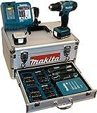 Makita BDF343RHEX5 Akku-Bohrschrauber im Alukoffer inkl. 96-...