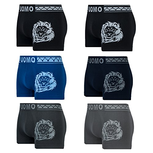 6er Pack L&K Boxershorts Herren Retroshorts im Nadelstreifen-Design EHU1205 1204