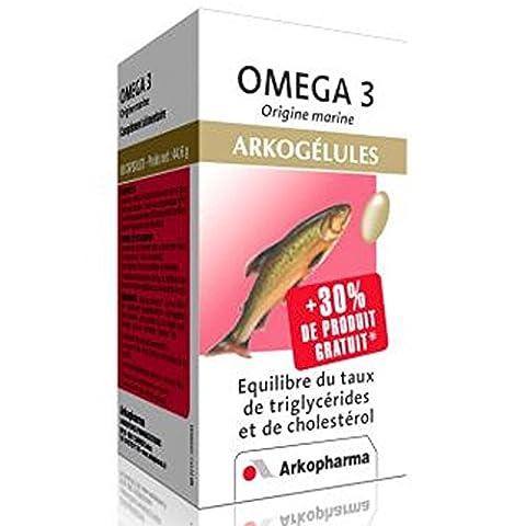 Arkopharma Phytothérapie Standard Arkogélules Omega 3 + Origine Marine/Huile de Poissons 60 Capsules