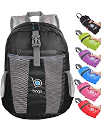 ea829c5b9d Bago 25L Lightweight Packable Backpack - Water Resistant Travel and Hiking  Daypack - Foldable and Handy