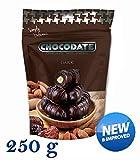 250 g Chocodate - Datteln mit dunkler Schokolade mit Mandeln Familienpackung, neue und verbesserte Qualität