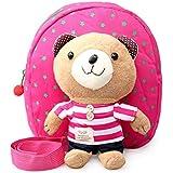Niños arnés de seguridad correa de mochila infantil, Walker-Andador Bebé Bolsa con desmontable de peluche oso riendas