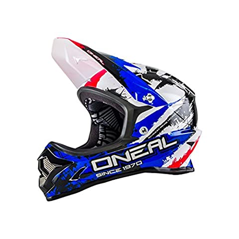 O'NEAL - Backflip Fidlock DH RL2shocker - Casque de vélo - Mixte - Multicolore (Noir/Rouge/Bleu) Taille: S (55 - 56 cm)